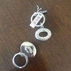 Coach Accessories - 👜 NEW Coach Silver Logo Turn Lock New Valentines!